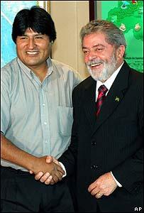 Evo Morales y Luiz In�cio Lula da Silva