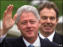 Bill Clinton and Tony Blair in 2000