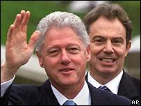Bill Clinton and Tony Blair in 2000