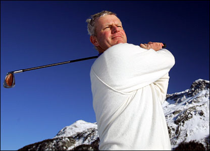 Two-time major winner Snowy, sorry, Sandy Lyle is looking for his first tournament win since 1992