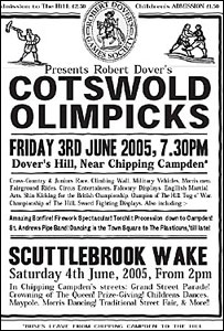 A flyer for the Cotswolds Olimpicks