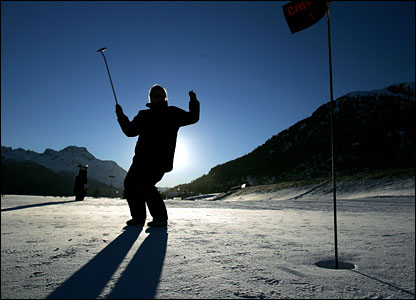 Sinking a slippery putt coming back is a test on any surface