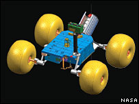 Concept Titan rover (Nasa)