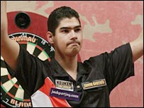Jelle Klaasen celebrates his semi-final win