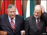 Iraqi President Jalal Talabani and Iraqi Prime Minister Ibrahim al-Jaafari