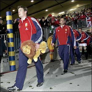 Captain Brian O'Driscoll leads the British and Lions