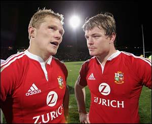 Josh Lewsey and O'Driscoll