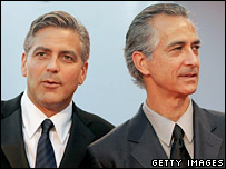 George Clooney and David Strathairn at the Venice Film Festival