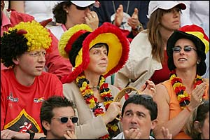 Belgium tennis fans enjoy the final