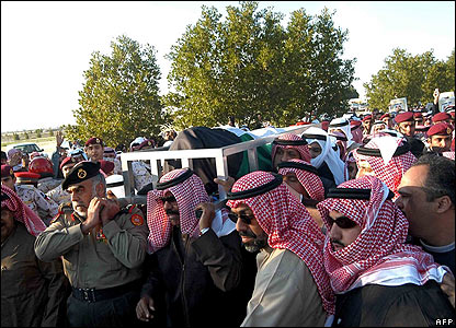 The body of Kuwait's ruler, Sheikh Jaber al-Ahmad al-Sabah, is carried during his funeral procession
