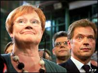 Tarja Halonen (left) and Sauli Niinisto (right)