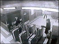 CCTV footage of Mr Rhys Pryce at Kensal Green station