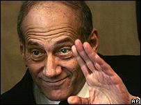 Acting Israeli Prime Minister Ehud Olmert