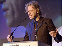 Bob Geldof, photo courtesy Justin Williams