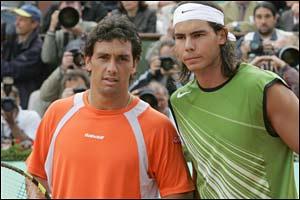 Mariano Puerta and Rafael Nadal