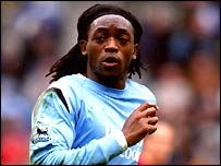 Kiki Musampa in action for Manchester City