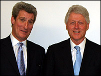 Jeremy Paxman with Bill Clinton