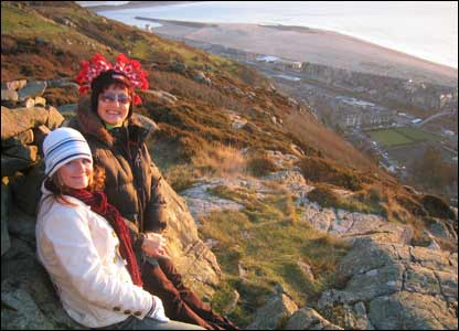 Damion Hardy sent in this picture of his mother and girlfriend above Barmouth
