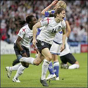 Karen Carney scores England's winner
