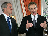 George Bush, Tony Blair