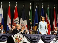 Condoleezza Rice opens OAS summit