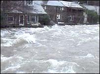Flooding at Beddgelert