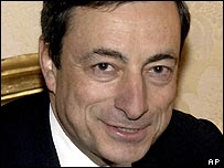 Mario Draghi, Governor of the Bank of Italy