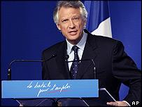 Prime Minister Dominique de Villepin