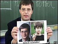 Dutch PM Jan Peter Balkenende and boy wizard Harry Potter