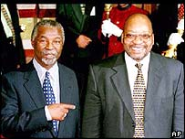 President Thabo Mbeki (left) and his deputy Jacob Zuma