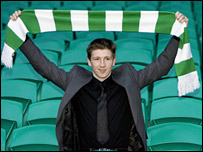 Mark Wilson displays his new colours on Monday