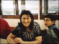 Almas Guliyeva with her son Vugar