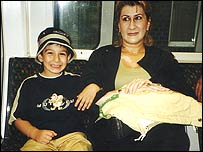 Almas Guliyeva with her younger son Vugar