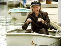 Bob Geldof launching Sail 8 at Swanick Marina, Hampshire