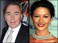 Lord Lloyd Webber and Catherine Zeta Jones