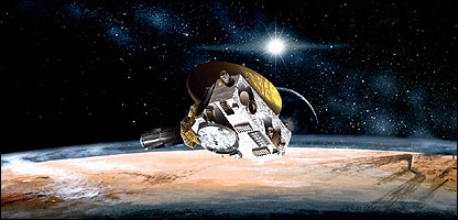 Artist's impression of New Horizons probe at Pluto