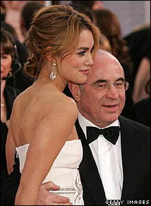 Keira Knightley and Bob Hoskins