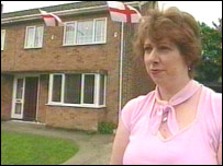 Tina Griffin outside her Peterborough home