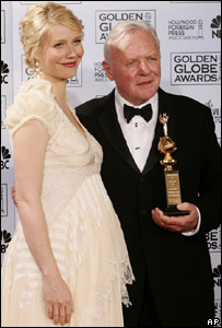 Sir Anthony Hopkins received the award from Gwyneth Paltrow