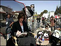 Court TV correspondent Diane Dimond outside Michael Jackson trial