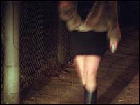 Prostitute walking
