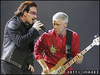 U2 во время концерта