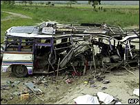 What is left of the bus