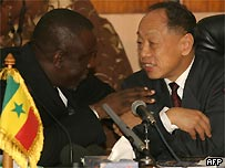 Chinese Foreign Minister Li Zhaoxing in Senegal