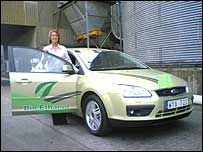Fiona Leggate with an E85 Ford Focus