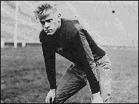 Gerald Ford playing football at Yale
