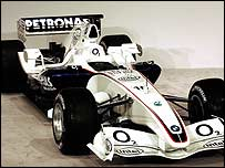 The new BMW-Sauber F1 car