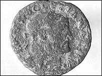 One of the Roman coins featuring Emperor Diocletian