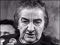 Former Israeli Prime Minister Golda Meir