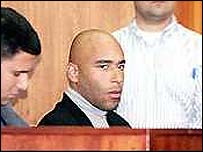 Edinho at court during his 1999 trial